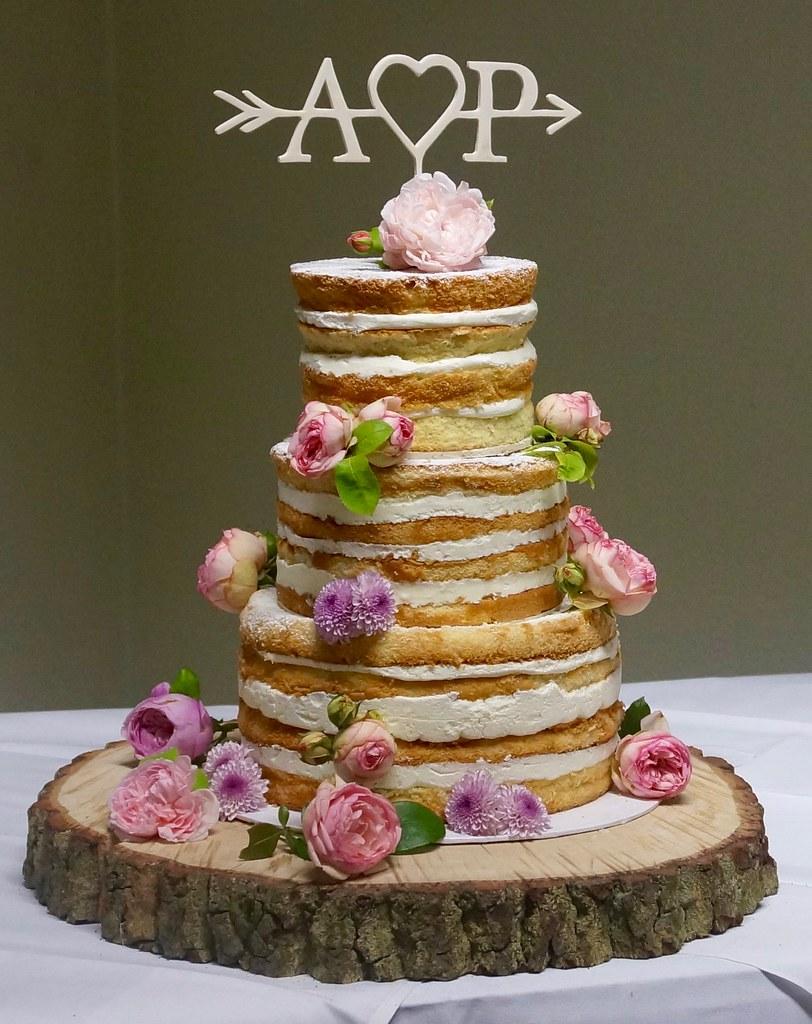 Naked Cake Hochzeitstorte Mit Echten Blumen Mschuetrumpf2 Flickr