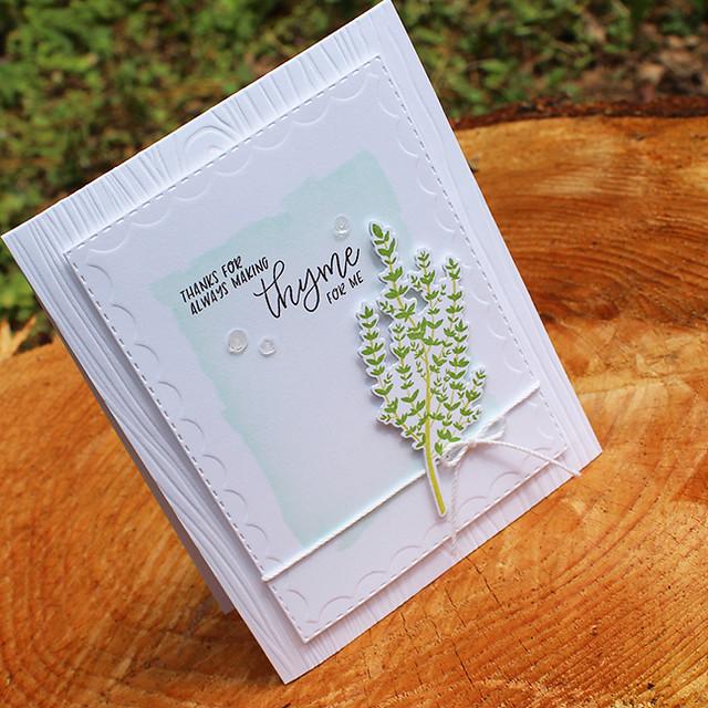 Making Thyme Card 3
