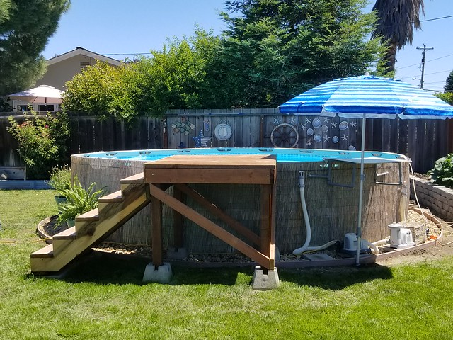 Above ground pool stairs steps build - How to build an above ground pool ...