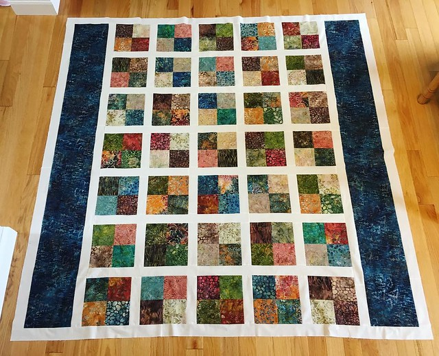 Top is done done. Ready to bring up to Baryard Quilting. #quilting #batik