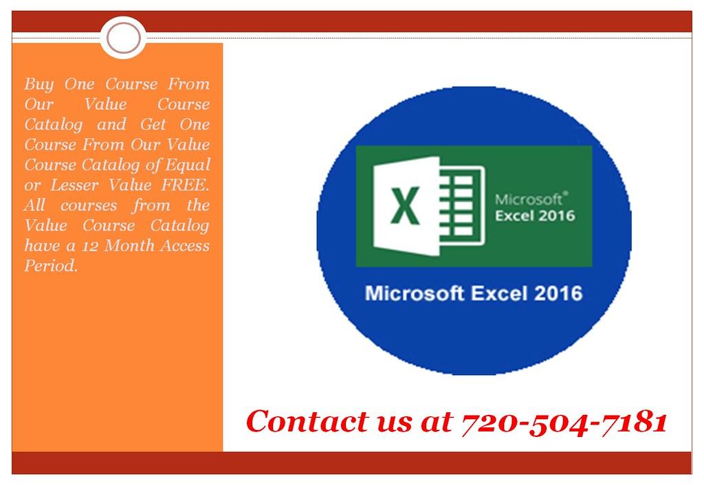 Microsoft Excel 2016 Online Training Online Certificat Flickr