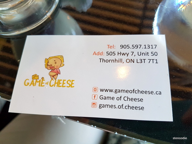 Game of Cheese business card