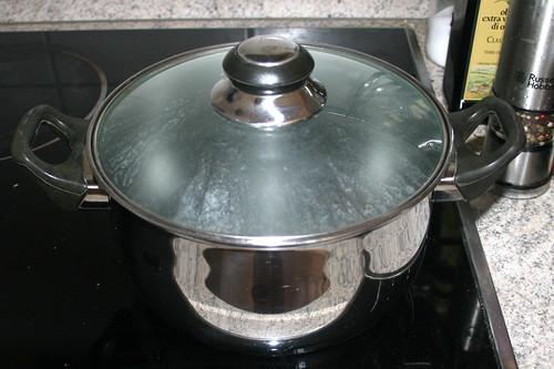 11 - Topf mit Wasser aufsetzen / Bring water in pot to a boil