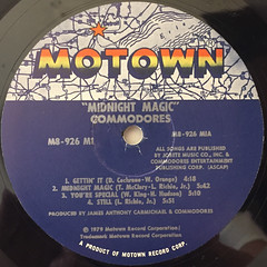 COMMODORES:MIDNIGHT MAGIC(LABEL SIDE-A)