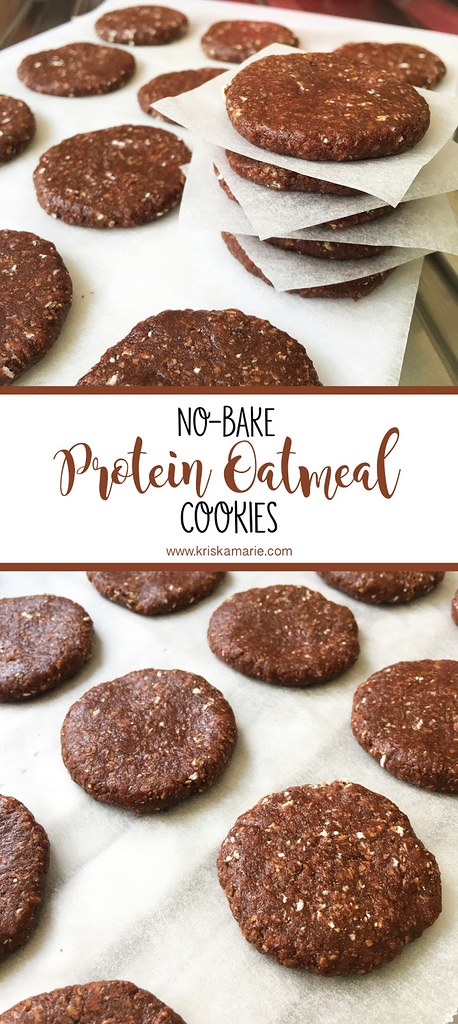 No-Bake Protein Oatmeal Cookies