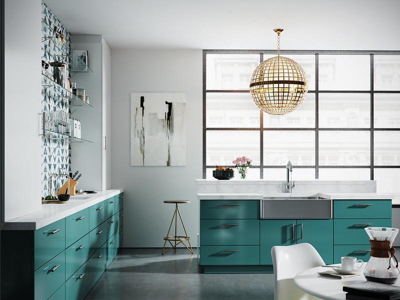Modern Green kitchen Cam 2