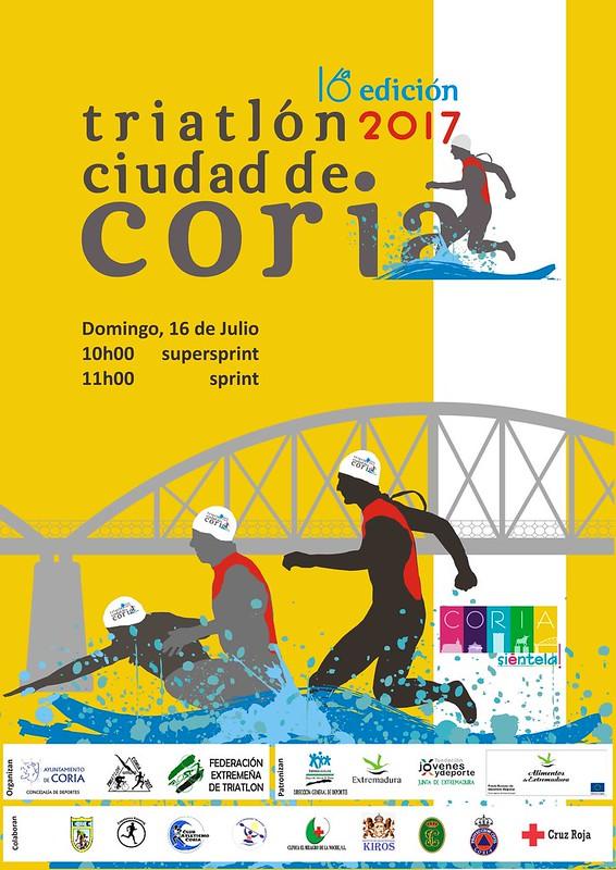 """La XVI edición del Triatlón """"Ciudad de Coria"""" se celebrará el 16 de julio de 2017"""