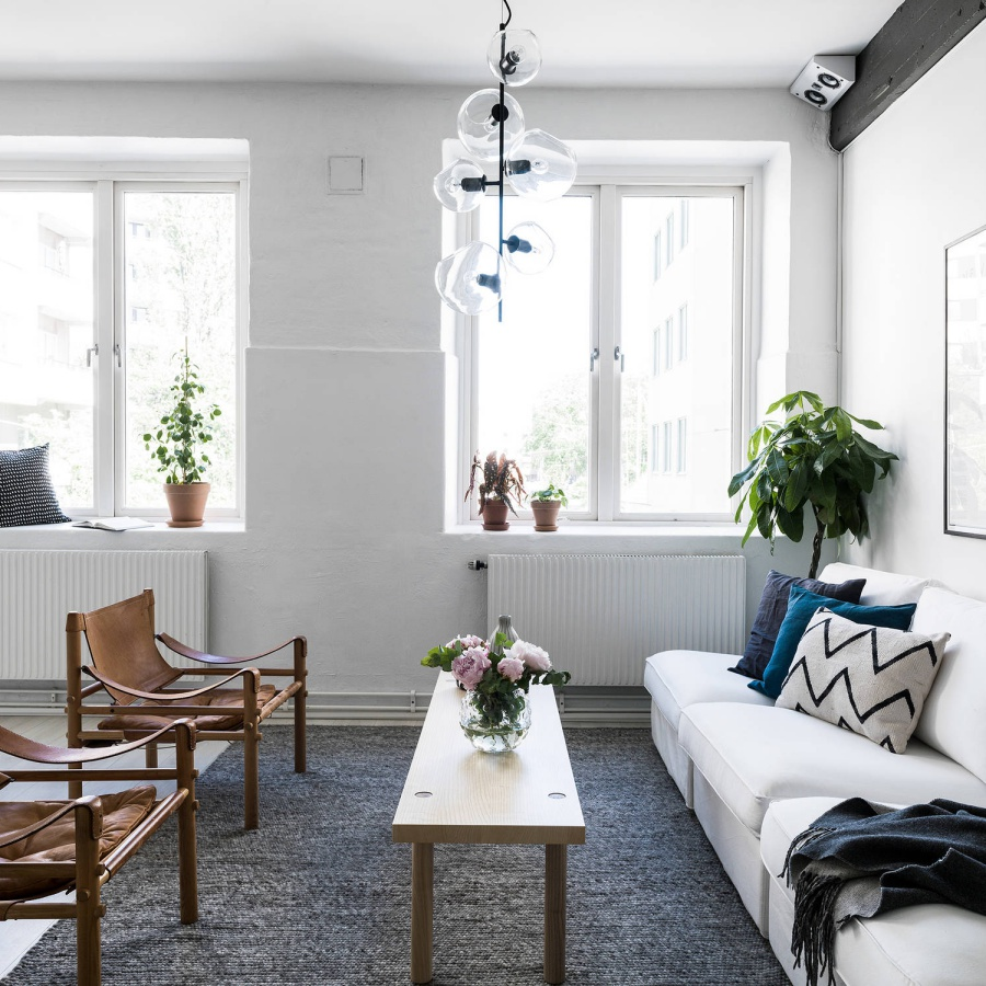 Simple White Scandinavian Apartment Pinterest Decor
