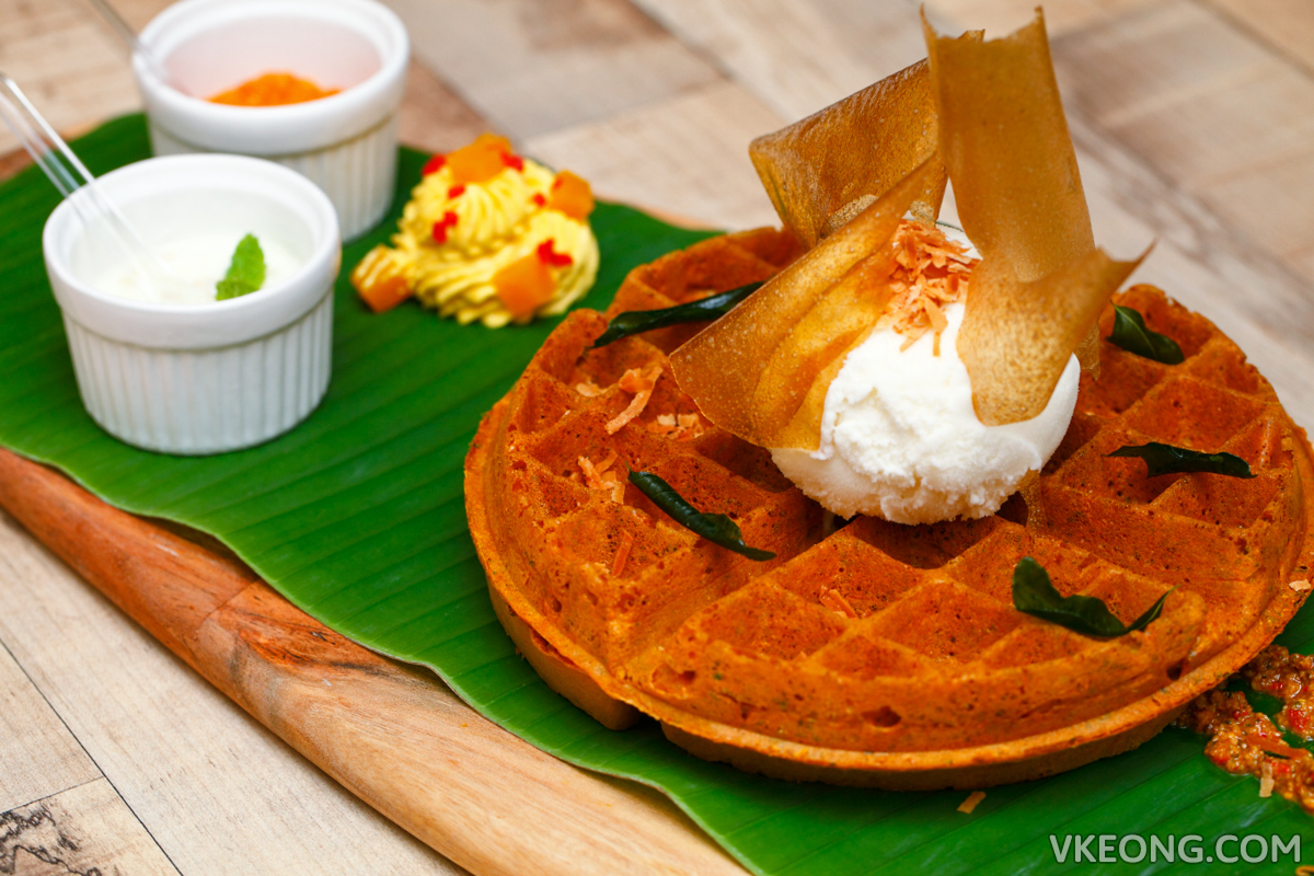 Foret Blanc Patisserie Banana Leaf Waffle