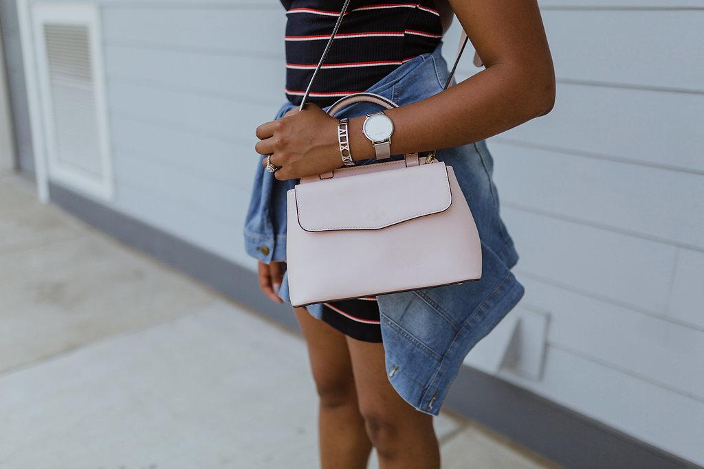 closet access handbag, marc bale watch