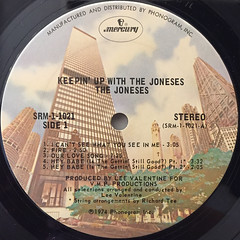THE JONSES:KEEPIN' UP WITH THE JONESES(LABEL SIDE-A)