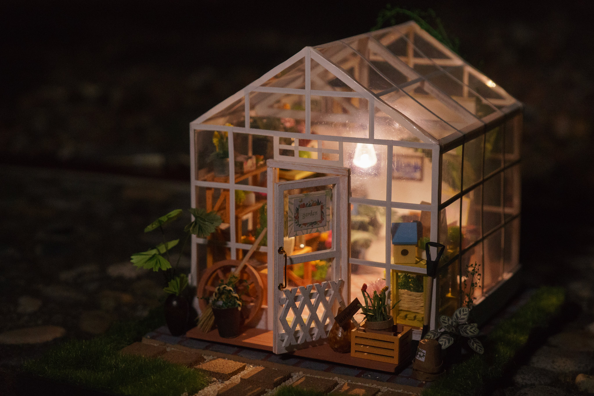 "Flower House Greenhouse : Diy dollhouse kit miniature greenhouse ""cathy s flower"