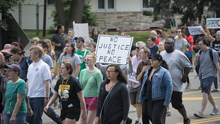 March against the Yanez not guilty verdict in the shooting of Philando Castile | by Fibonacci Blue
