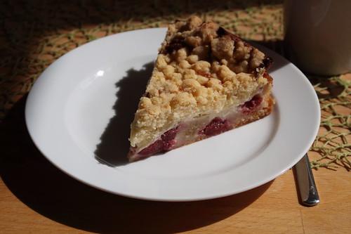 Quark-Kirsch-Kuchen mit Streuseln (Stück)