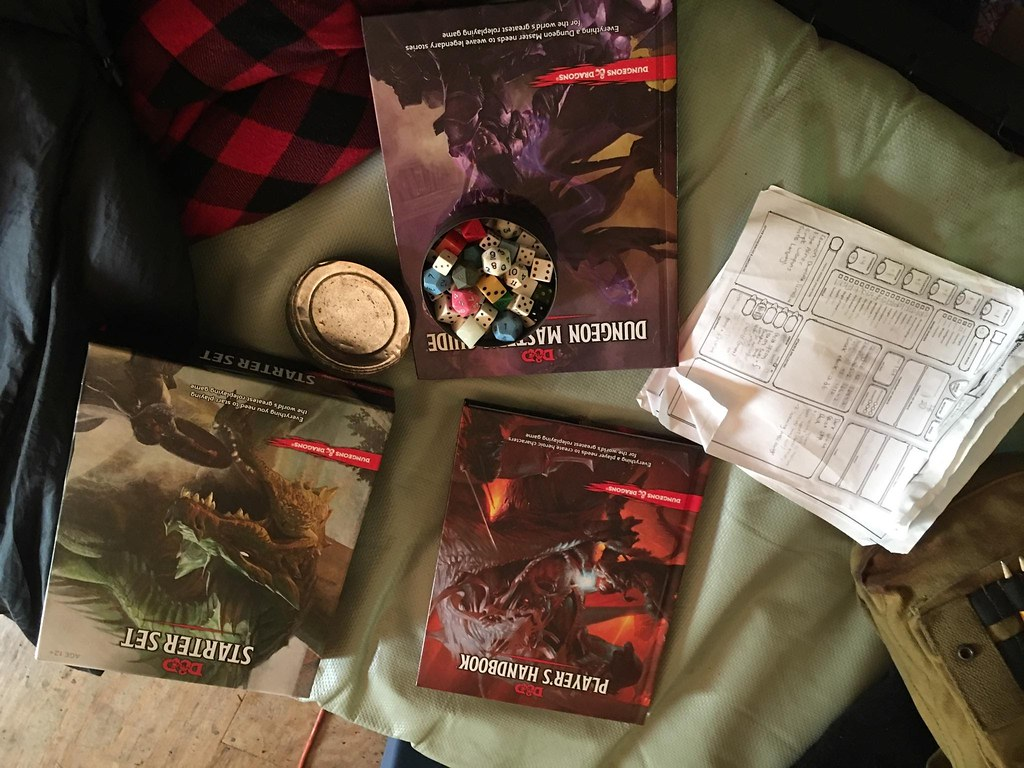 Postscript: Garrett Sent Me A Photo Of Him Setting Up For A D&d 5th Edition  Game At The Summer Camp He Works At Note The Little 16mm Film Can Full Of