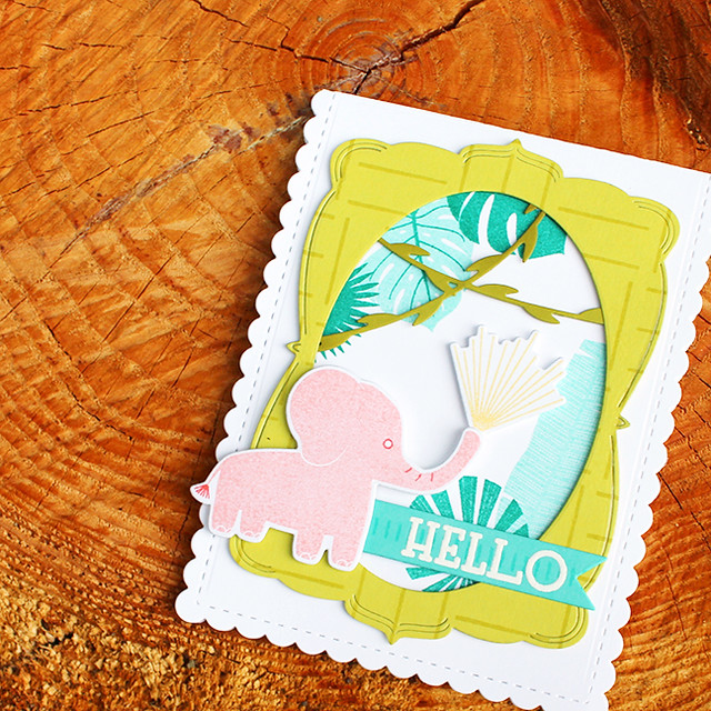 Elephant Hello Card 4
