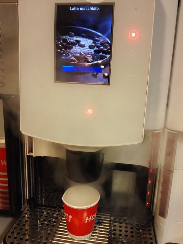 コーヒーマシーン イギリス鉄道のラウンジ