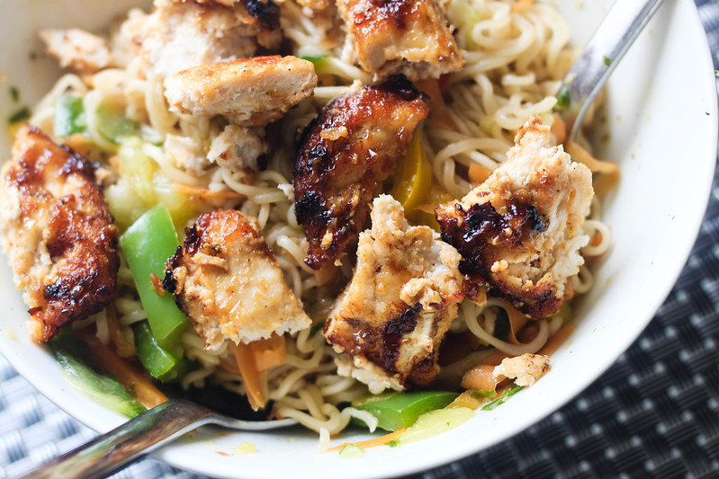 SW friendly Slimming World friendly easy rainbow chicken noodles