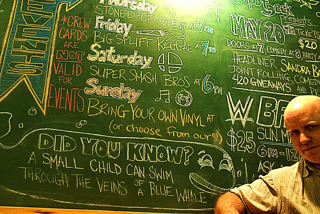 Ian Keenan in Hot Box Cafe--Toronto