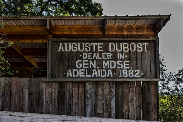 Dubost Ranch general store sign