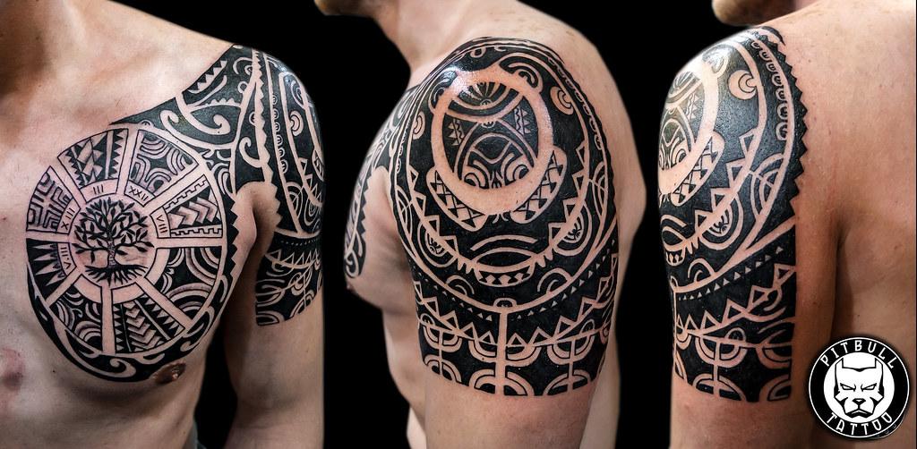 Maori Tattoo Cover Up: Www.pitbulltattoothailand.com