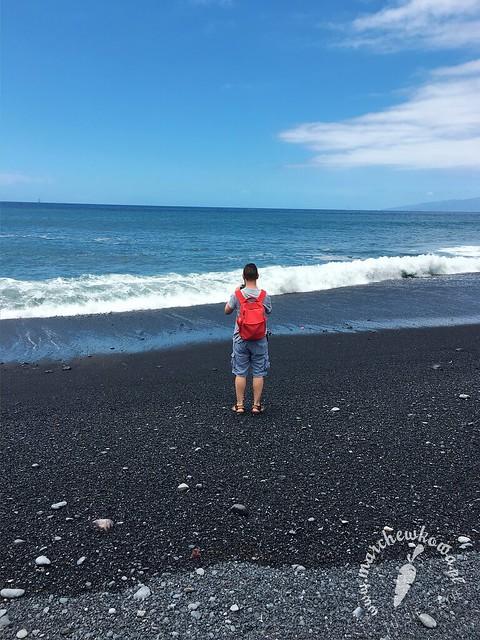 maj 2017, Teneryfa, pływanie, czarna plaża La Enramada