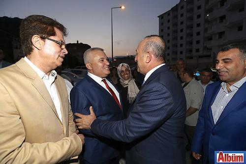 AK Parti Alanya İlçe Başkanı Mustafa Berberoğlu, ALTSO Başkanı Mehmet Şahin, Dışişleri Bakanı Mevlüt Çavuşoğlu