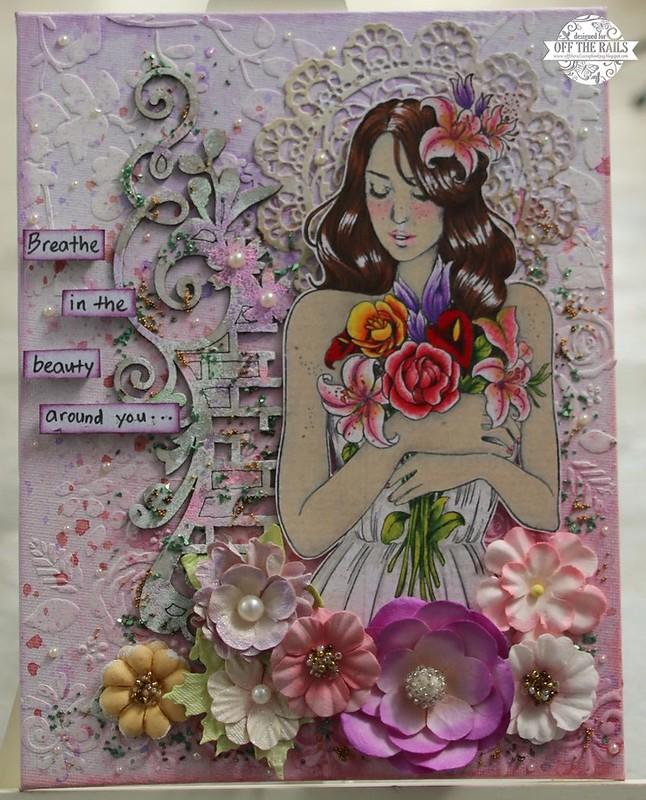 """Princess Gabrielle Mixed Media Canvas"""