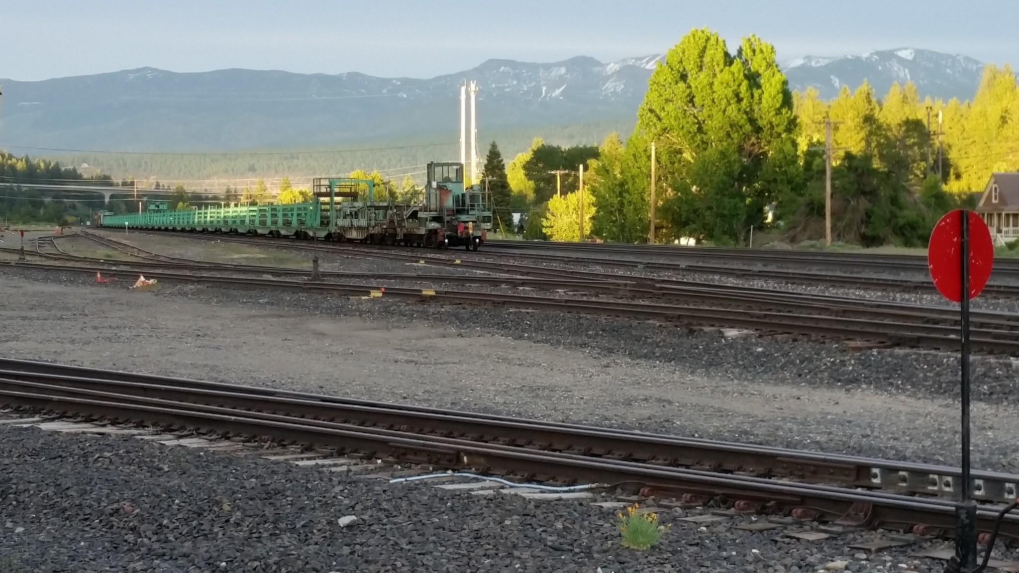 Rail Train in Truckee Yard
