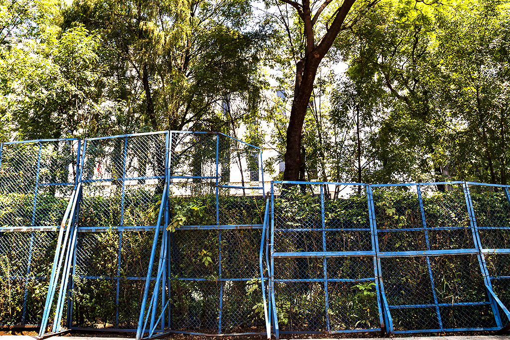 Fence across the street from US Embassy--Mexico City