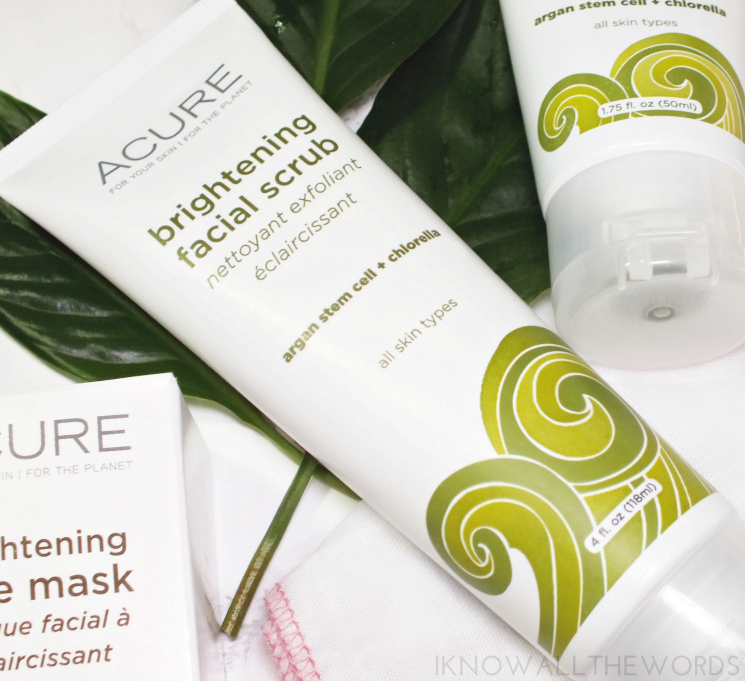 Acure Brightening Facial Scrub & Mask