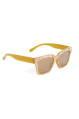 Warehouse pearl-effect yellow square sunglasses