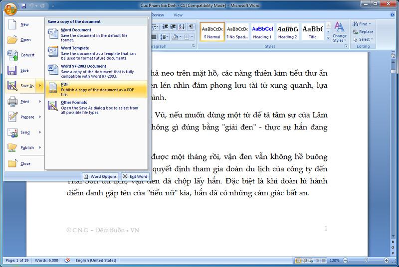 word 2003 save as pdf