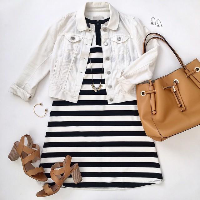 LOFT Mixed Stripe Sleeveless Swing Dress, size XXSP