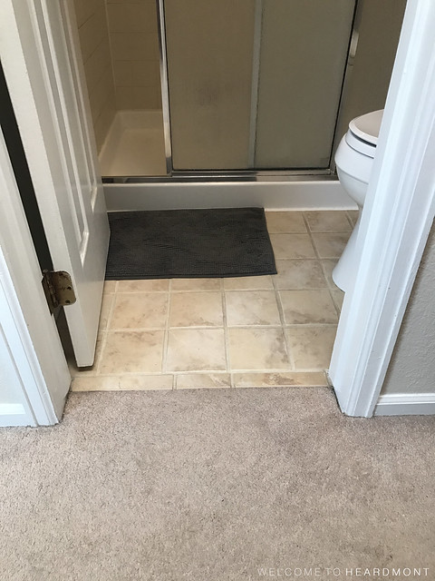 Bathroom Flooring Before | Welcome to Heardmont