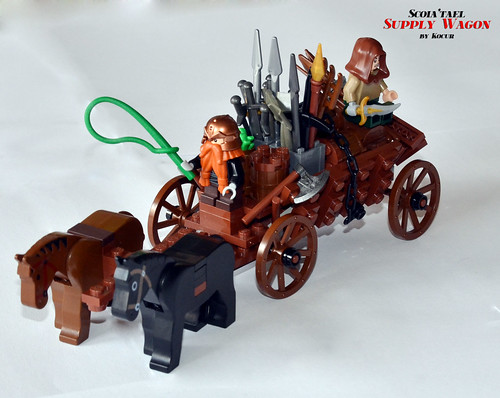 Scoia'tael Supply Wagon 07 with Horses | by kocurvelox