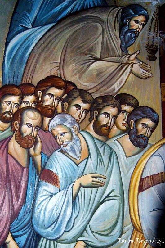 Фрески на стенах церкви Св. Троицы