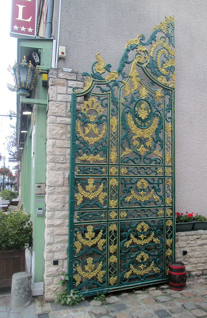 Ornate Iron Gates, Honfleur, Normandy, France