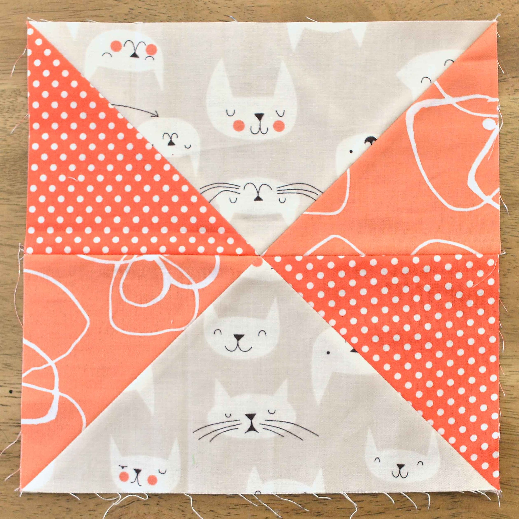 The Fussy Cut Sampler QAL Block 19
