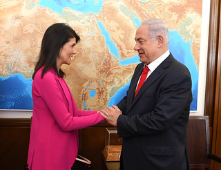 US Ambassador to the UN Nikki Haley visit June 2017