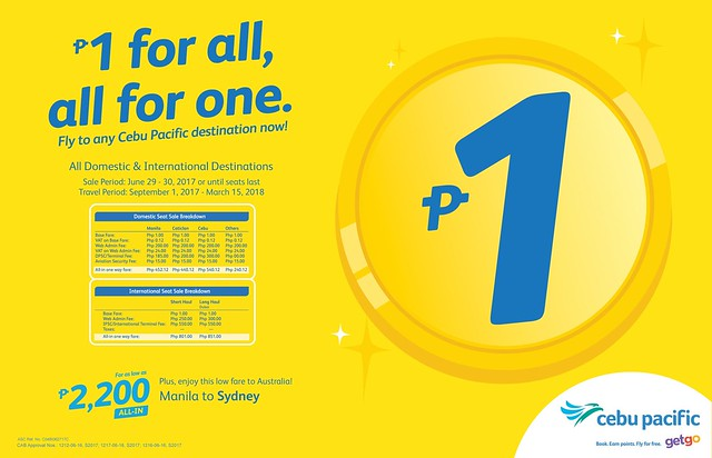 Cebu Pacific Air Piso Sale June 2017