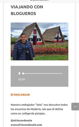 Entrevista de Madeira en Paralelo 20
