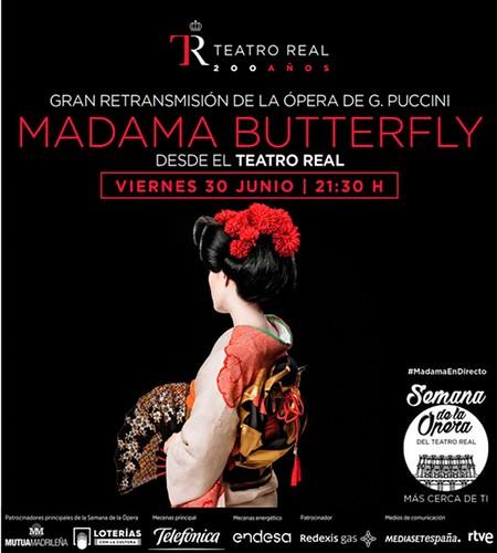 Cartel ópera Madama Butterfly