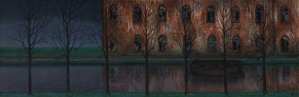 ウイリアム・ドグーヴ・ヌンクの《運河》(1894年、クレラー=ミュラー美術館)