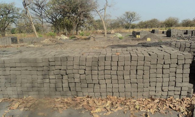 Bricks for South Sudan school before they disappeared
