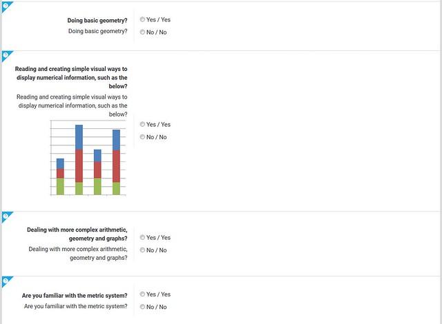 Skills ProfileTool: calculations