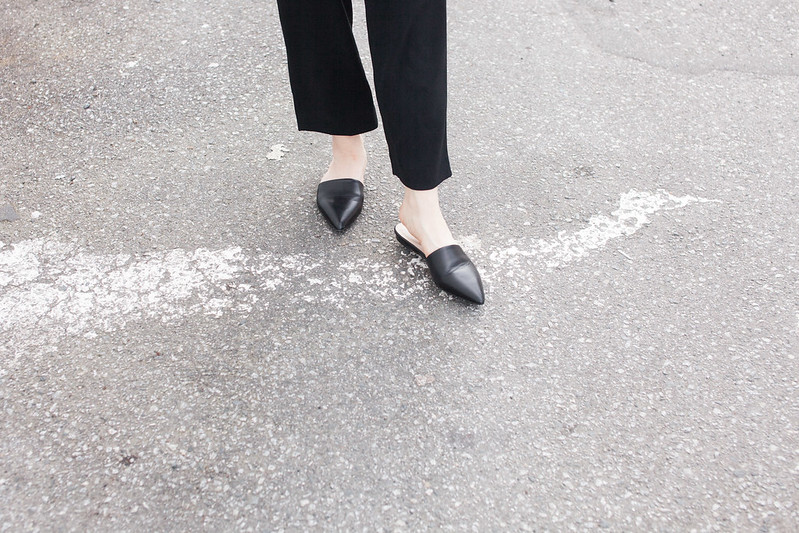 everlane pointed slides