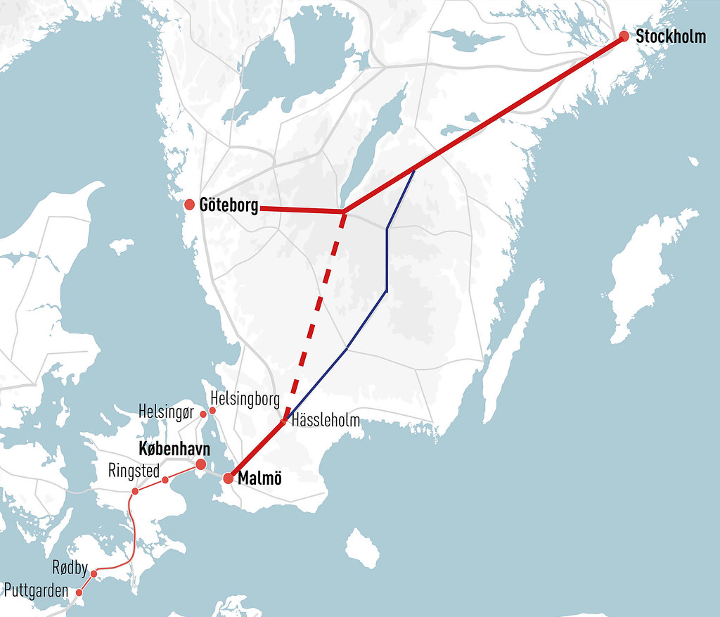öresund karta 20170707 Hoghastighetsjarnvag Sverige karta | Karta över den… | Flickr öresund karta