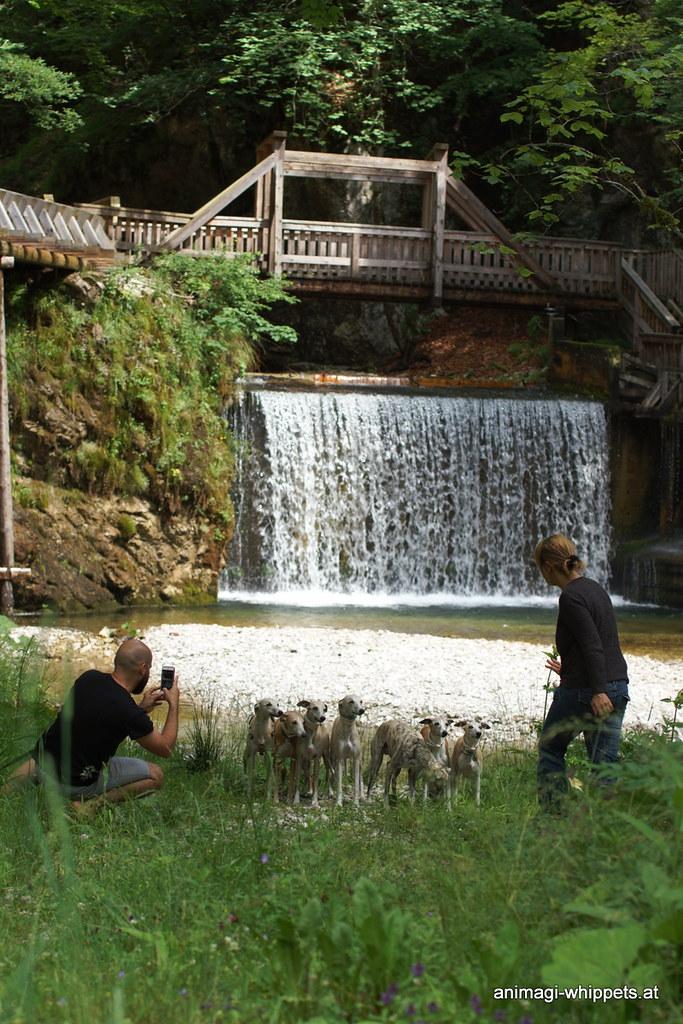 Posing vor dem Wasserfall :-)
