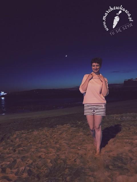 Teneryfa, maj 2017, plaża, noc